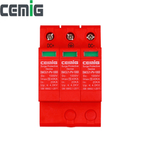 Cemig SMGU1 PV Surge Protector Device SPD DC500V800V1000V 40kA 3 Pole Low Voltage Arrester Lightning Protection