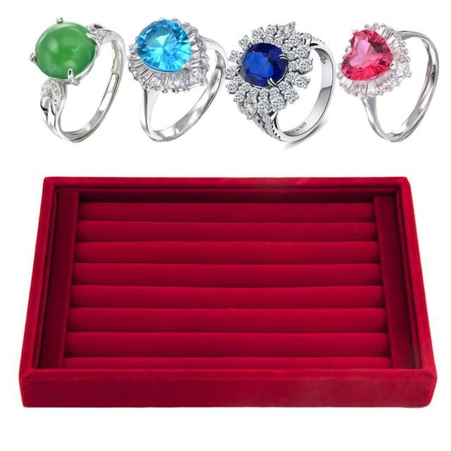 GENBOLI 2017 New Ring Box Jewelry Velvet Box Earrings Ring Jewelry