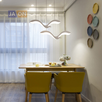 LED Nordic Iron Acrylic Sea Gull White LED Lamp LED Light.Pendant Lights.Pendant Lamp.Pendant Light For Dinning Room