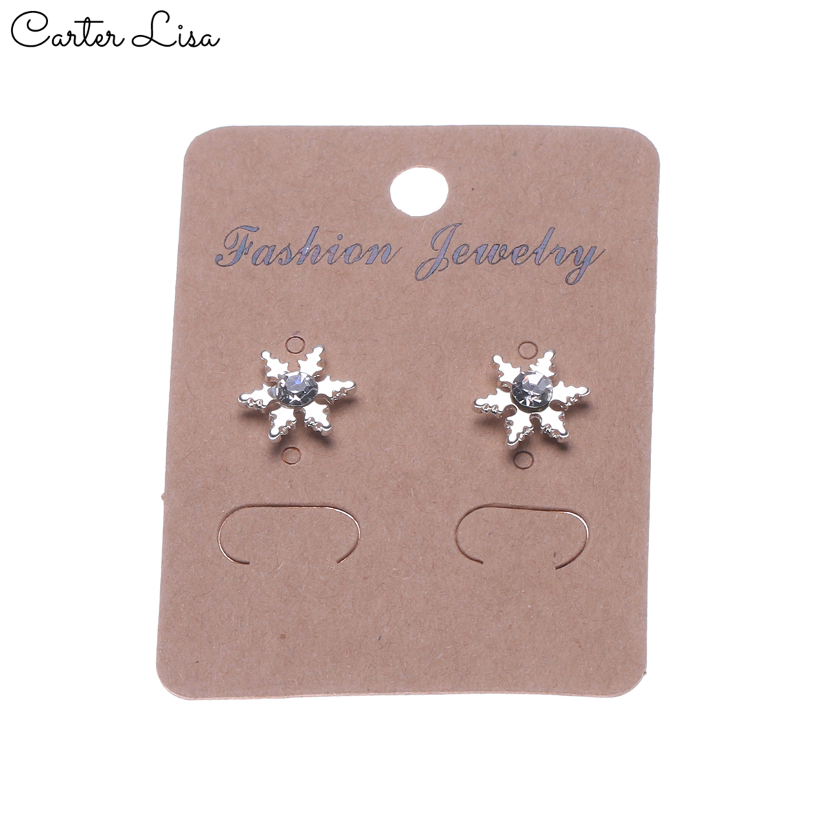 CARTER LISA HOT SALE Fashion Women's Crystal Stud Earrings Tiny Simple Crystal Earrings Party Pendientes Jewelry FREE SHIPPING
