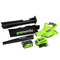 GreenWorks Outdoor Garden DigiPro G-MAX 40V Cordless 185MPH Blower/Vac With 4ah Battery Charger Professional Garden Tools