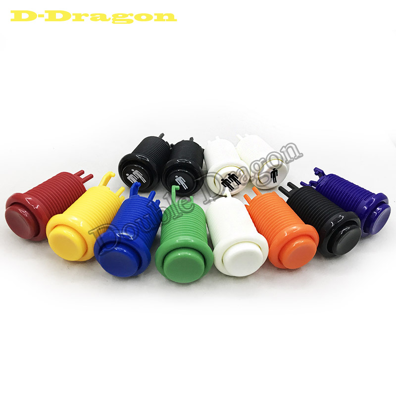 2019 New Color Orange Arcade Push Button Purple Happ American Style Long With Switch For Multi Arcade MAME Jamma Game