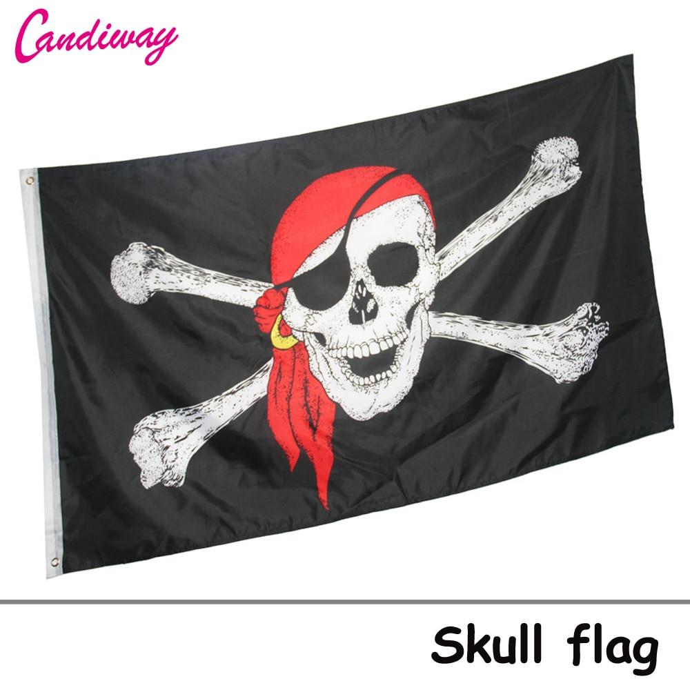 Immagini Di Teschio Pirati us $3.25 26% di sconto|teschio croce ossa incrociate jolly roger pirati dei  caraibi bandiere banner vecchio roger 90*150 cm festival di decorazione