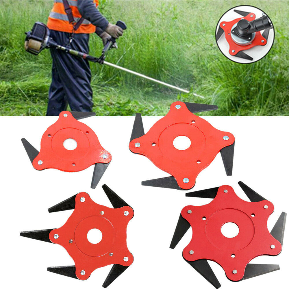 6 Tooth Garden Lawn Mower Blade Manganese Steel Grass Trimmer Brush Cutter Head 65Mn
