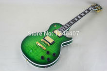 Hersteller um die beste große grüne dekorative muster Lp e-gitarre kann maß freies lieferung