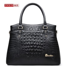 2016 New ZOOLER Fashion women leather bag ladies Alligator pattern tote Shoulder bag handbags women famous brands Women bag 2016