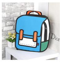 2017 Creative Style 3D Comics Backpack Personality Preppy Style School Bag For Teenage Girls Boys Second