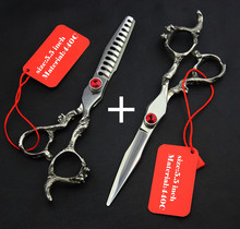 profissional 440C 6.0 5.5 inch hair scissors thinning cutting hairdressing shears scissor set styling tools Free Ship