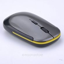 2.4GHz Wireless Mouse Ultra Slim Mini USB Receiver Wireless Laser 1600DPI Optical Gaming Mouse *L