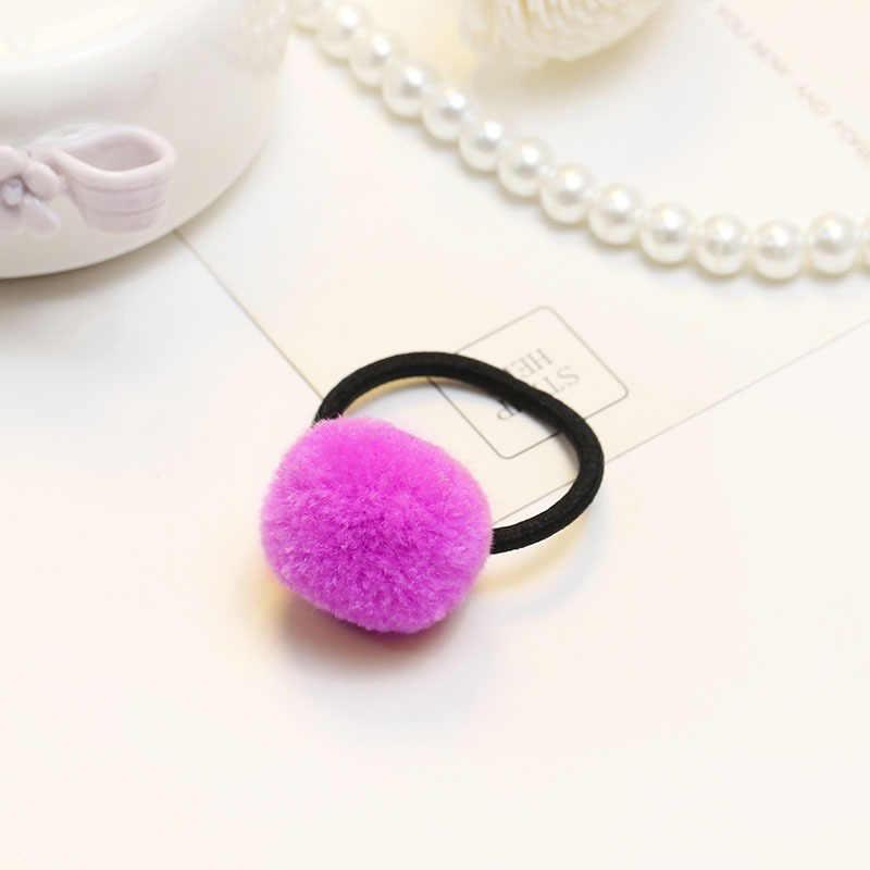 패션 새로운 귀여운 여자의 헤어 밴드 액세서리 캔디 컬러 가짜 토끼 모피 볼 hairband 고품질의 헤어 액세서리 쥬얼리 선물