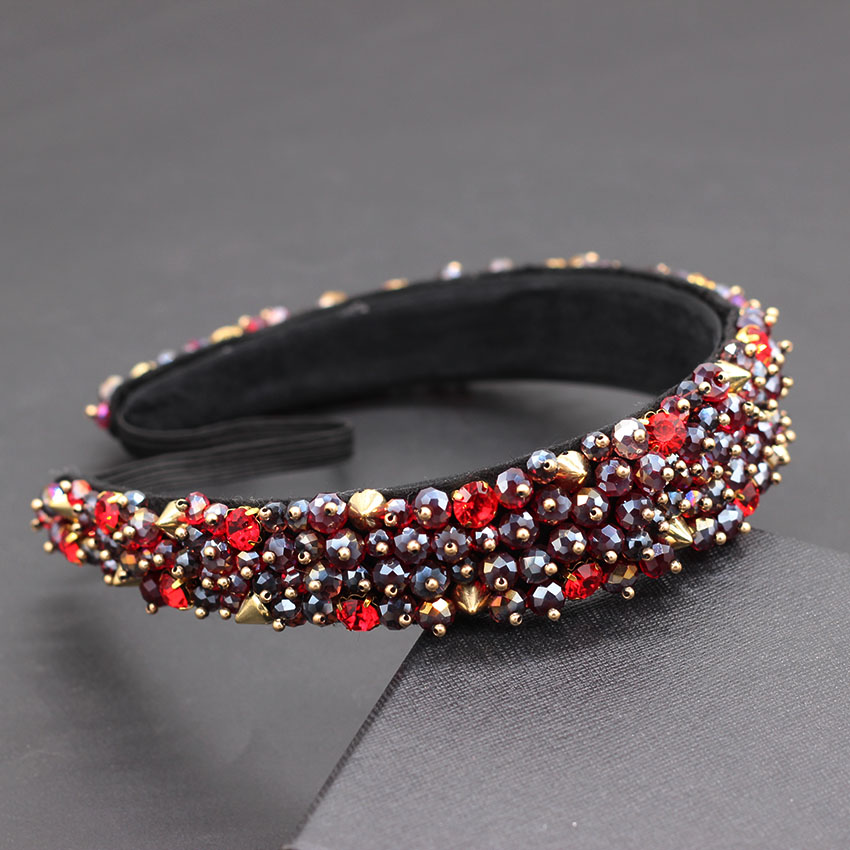 Image 3 - Acrylic beads drop hand sewing heavy duty headband Baroque heavy work simple small particles geometric luxury headband 872-in Hair Jewelry from Jewelry & Accessories