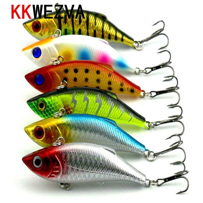 KKWEZVA 5pcs 9 8g 8cm Rattlin Vib Fishing Lure Hard Bait Artificial Lures Hooks Vibration Woofer