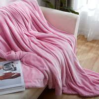 Pink Lambs Wool Blanket Lamb Velveteen Compound Fabric Fine Workmanship Lambs Wool Blanket Double Sided Super