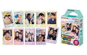 Image 4 - Для Fujifilm Instax Mini 11 8 9 25 90 пленочная камера, 50 листов мгновенная фотография Радуга, полоса, блестящая Звезда, конфеты поп, витражное стекло
