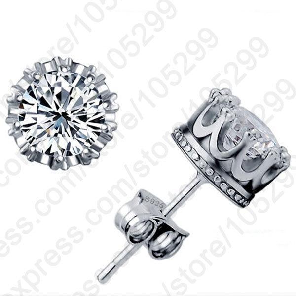 JEXXI Best Unisex Trendy Stud Earrings 925 Sterling Silver Jewelry Austria Crystal Silver Stud Earrings for Gifts Free Shipping