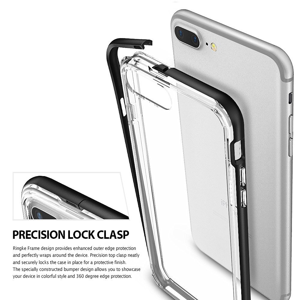 100 Original Ringke Frame Case For Iphone 8 Plus Premium Hybrid Rearth 7 Slim Gloss Black Aeproductgetsubject