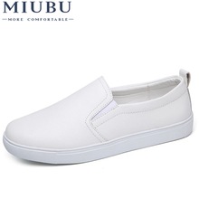 MIUBU Women Flats Leather Shoes 2019 Spring Fashion Moccasin Slip On Flat Loafers Casual Shoes Woman Slipony Black Shoes 2017 fashion women loafers canvas shoes slipony oxford flats heels cartoon slip on comfortable mix colors white black shoes 9 11