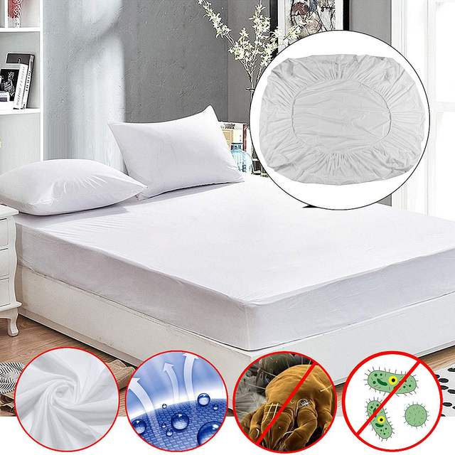 Delicieux Polyester Mattress Protector Cover Portable Travel Bedspread Textiles Anti Dust  Mite Breathable Bed Sheet Bedding Accesories