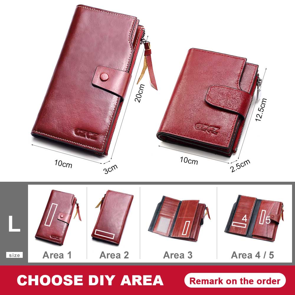 GZCZ New 2018 Genuine Leather Women Clutch Wallets Multiple Cards Holder Long Female Purse With Phone Bag Fashion Woman Walet