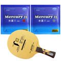 Pro Tischtennis PingPong Combo Schläger Galaxy YINHE T8s mit 2 Stück Mercury II Lange Shakehand FL