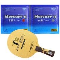Pro Table Tennis PingPong Combo Racket Galaxy YINHE T8s with 2Pieces Mercury II Long Shakehand FL