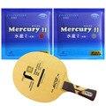 Raqueta de ping pong de mesa profesional Galaxy YINHE T8s con 2 piezas de Mercury II Long Shakehand FL