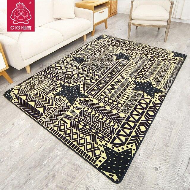 CIGI Simple Geometric Pattern Carpet Creative Design Rectangular Home For Bedroom Living Room Kitchen Anti
