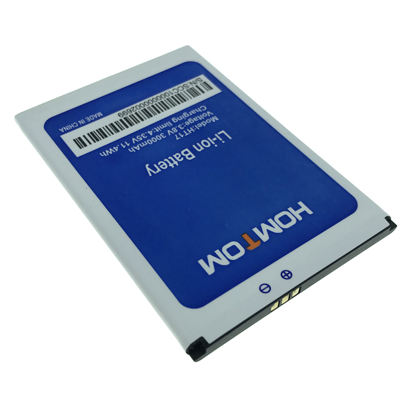 High Quality HT17 Battery For Homtom HT17 HT17 Pro Mobile Phone Replacement In Stock + Tracking Number(China)