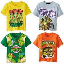 Kid Boys Teenage Mutant Ninja Turtles 4TMNT Characters Michelangelo Shirt free shipping