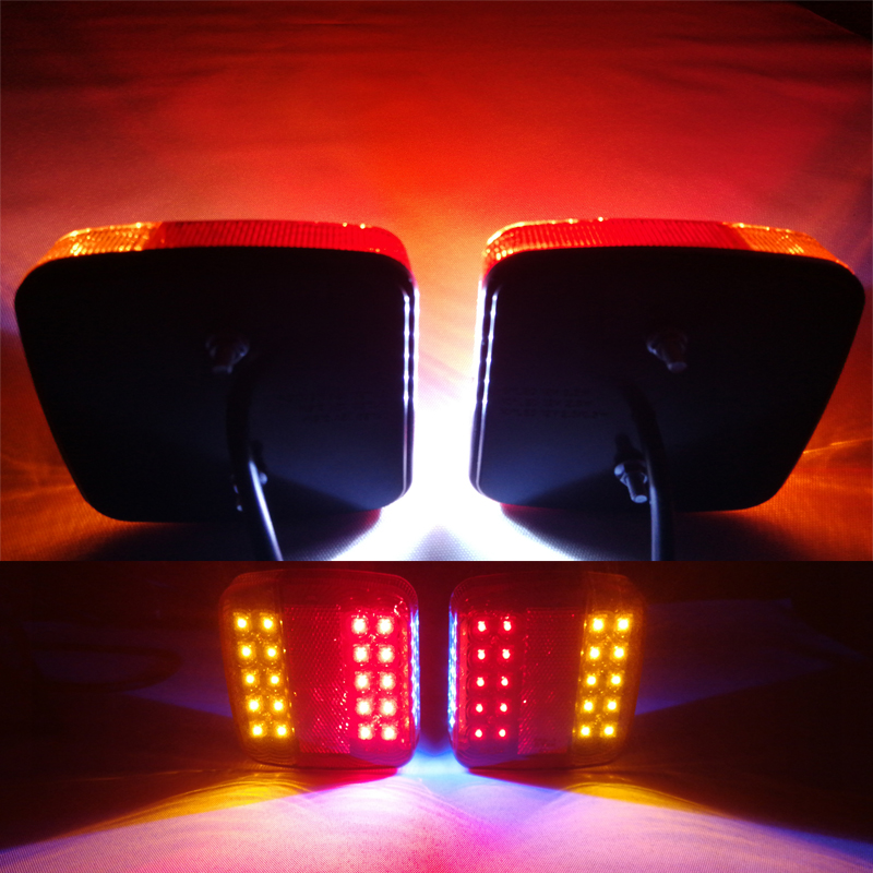 Image 5 - 1 piece 12 v LED Trailer Light truck lorry camp rv car accessory stop brake direction indicator rear position number plate lamp-in Truck Light System from Automobiles & Motorcycles
