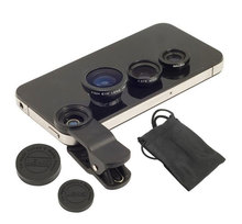 3in1 Universal Fish Eye Wide Angle Macro Lens Set Cellphone Fisheye Kit for Mobile Phone Android