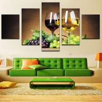 Diamond Embroidery fruit Flowers Pictures Of Rhinestones home Decoration Beaded Diamond Painting Sets Grape wine 5 pcs/ sets