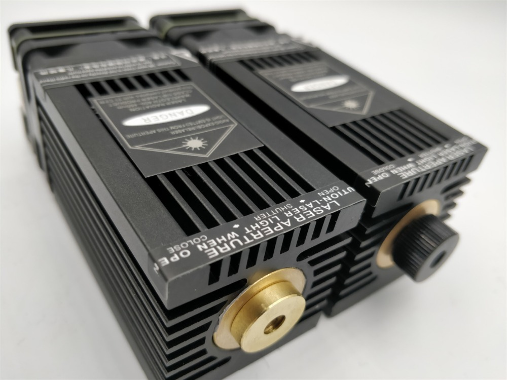 FREE SHIPPING 500mw 3W 5W 6W 10W 15w 445nm 450nm focusable Laser Module Laser Engraver part DIY Laser Head withPWM/TTL