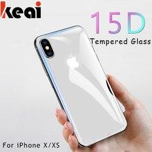 15d vidro protetor de tela frontal e traseira para o iphone 12 11 pro x xs max cobertura completa de vidro temperado para o iphone xr película de proteção