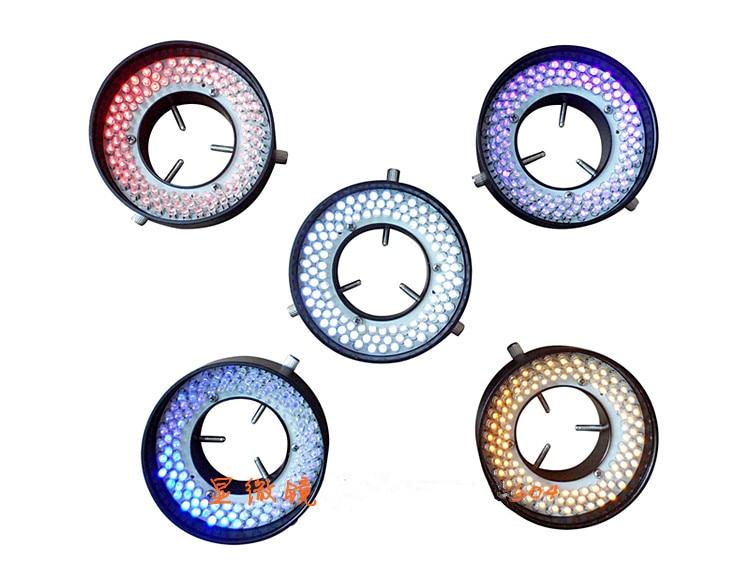 61mm Inner Dia. Microscope Illuminator 144 LED Ring Light Red Ring Lamp with Adapter 90V-240V free shipping microscope led light amscopec supplies 64 led microscope led ring light illuminator with control box and adapter