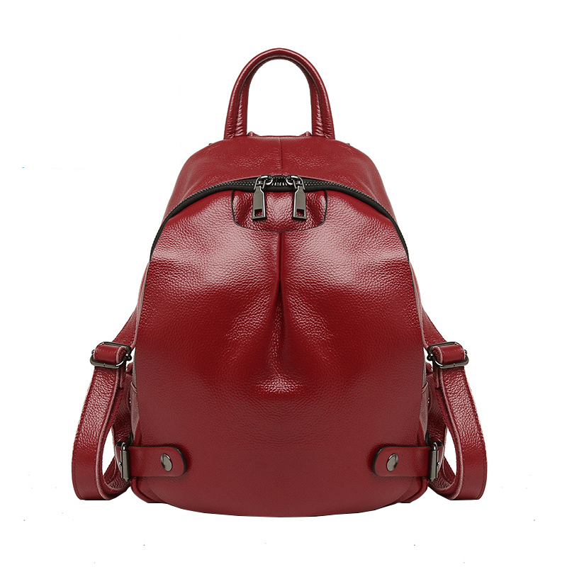 Homeda New Genuine Leather Fashion Women Backpacks Street Classic Solid Small Bag Z0014 247 classic leather