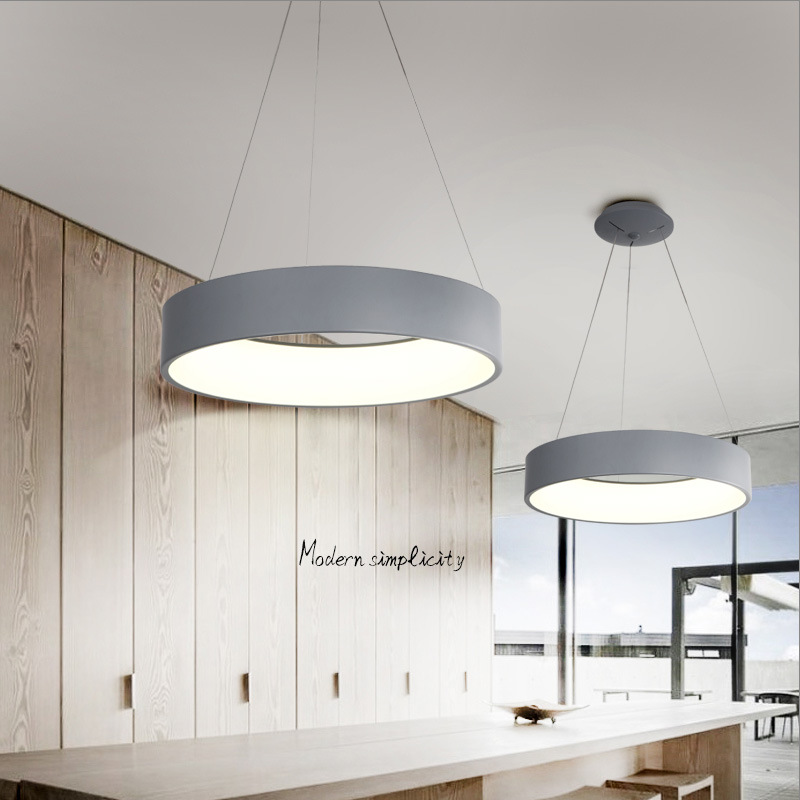 Оптовая продажа Nordic Современная личность Ресторан свет акрил светодиод Алюминий кольцо лампы Pendnet огни 1143