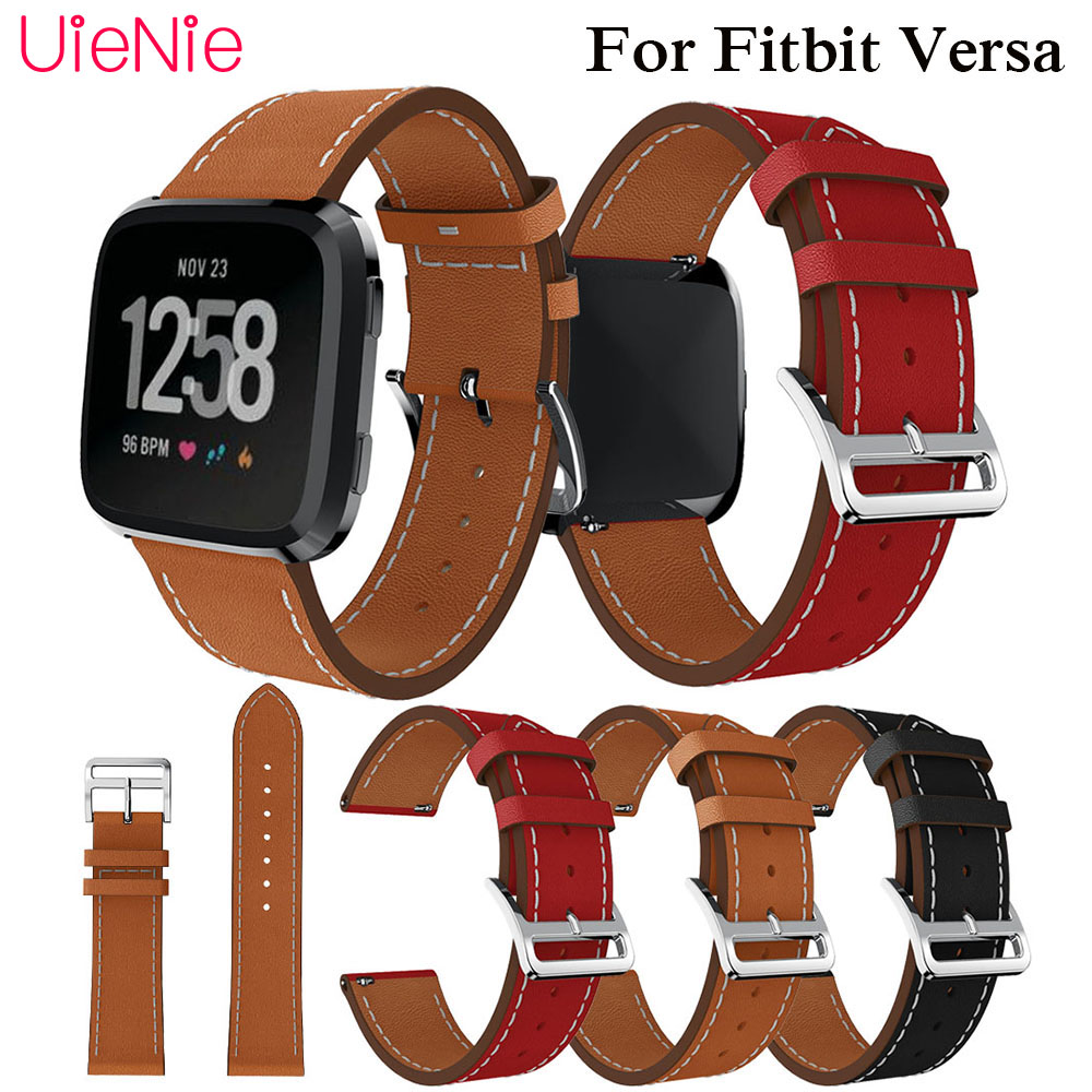 Luxury Replacement Watch band Leather wrist Watchband Strap Bracelet Belt For fitbit versa Smart wristband accessories