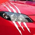 40cmX12cm забавная Автомобильная наклейка светоотражающая полоска монстра от царапин когти марок Автомобильные фары украшения виниловые накл...