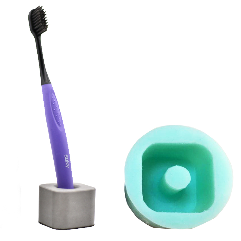 Silica gel silicone mold cement toothbrush holder tooth brush seat - Kitchen, Dining and Bar