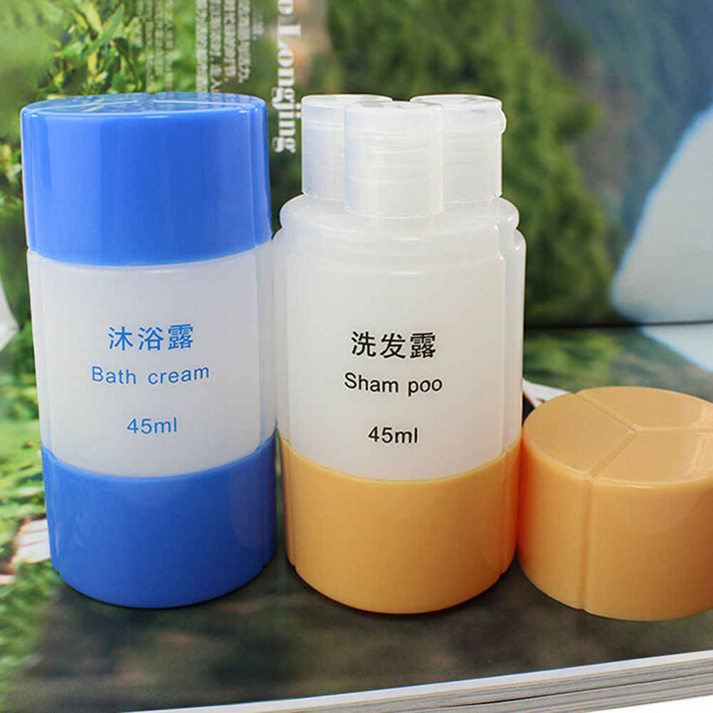 で 1 個 3 1 ポータブルプラスチック空の旅行収納シャンプースキンバスクリームボトル容器セット卸売 6 色