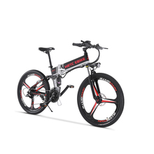 26inch electric mountain bicycle 48V400W Soft tail bike Smart lcd EMTB fold frame lithium battery 35-40km/h ebike