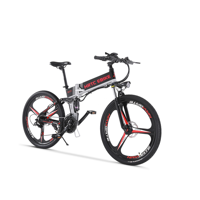 26inch electric mountain bicycle 48V500W Soft tail electric font b bike b font Smart lcd EMTB