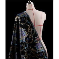 143*100cm1pc Good Jacquard Brocade Fabric French Imported Silk Satin Jacquard Brocade Fabric Sewing Material Diy Dress Suit