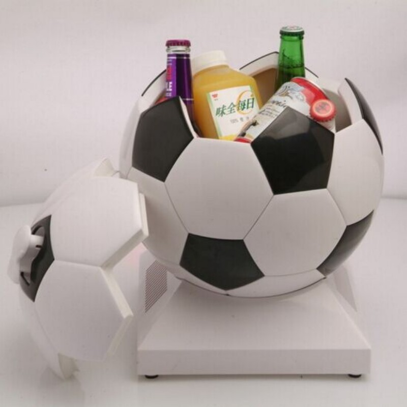 ЦБИ холодильник автомобильный мини охладитель и подогреватель стиль футбола очень круто двойная польза наслаждаться прохладным теплое питье 220В/12В