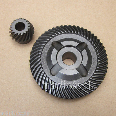 Metal Gear Set for BOSCH GWS 20 - 180 / 20 - 230 Angle Grinder metal spiral bevel gear set for bosch gws 6 100 angle grinder