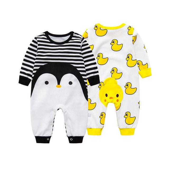 Hola Mamelucos Del Bebé Lindo de Manga Larga Mameluco Del Bebé Puro algodón Recién Nacido Bebé Traje de Dibujos Animados Bebé Ropa ropa bebe