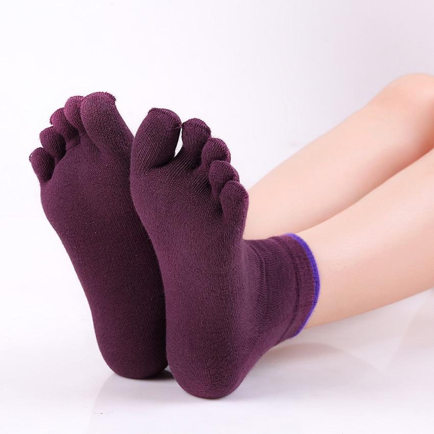 Mode Femme Coton Gym Sport Antidérapante Massage Yoga Fitness Chaussettes Rose
