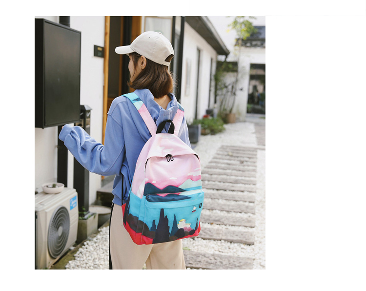 Menghuo Fresh Canvas Backpack Women Landscape School Bags for Teenagers Girls New Backpack Travel Bag Rucksack Mochilas Knapsack_34_06