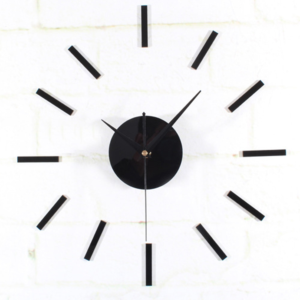 online get cheap simple wall clock aliexpresscom  alibaba group - modern simple strips design creative wall clock d diy elegant quartzmovement clock acrylic living room decoration clock